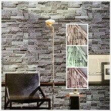 купить PVC Vinyl Modern Faux Brick Stone 3D Wallpaper Living room Bedroom Bathroom Home Wall Decoration,0.45m*5m/roll по цене 879.27 рублей