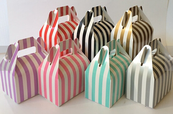 SMALL Green Treat Boxes Wedding Confetti Favour Loot Gift Party Cupcake Box