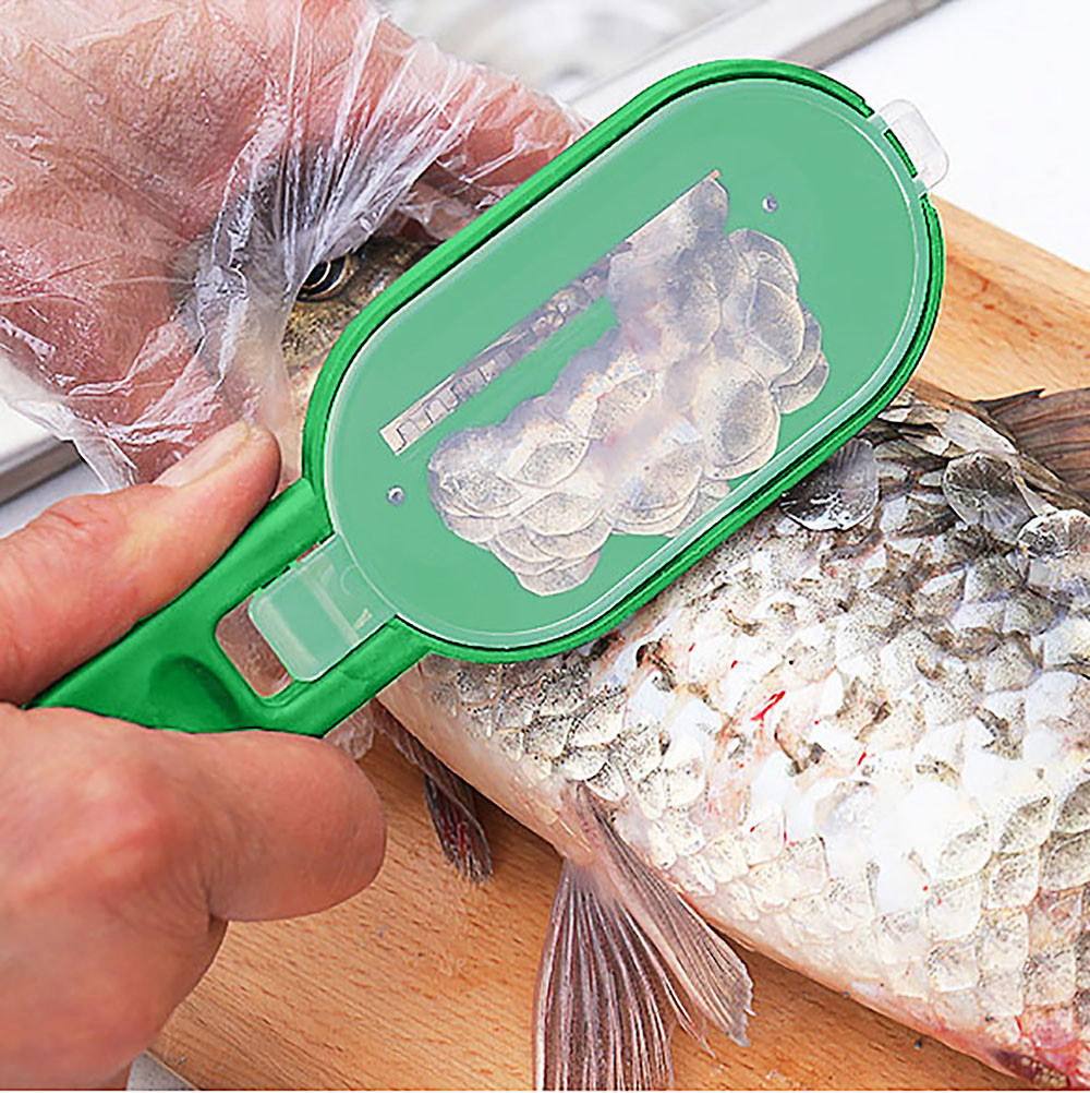 Fish Skin Brush Scale Planing Graters Fast Remove Cleaning Scaler Kitchen Tools