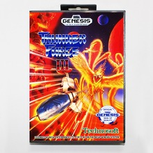 Thunder Force III 16 bit MD card with Retail box for Sega MegaDrive Video Game console system