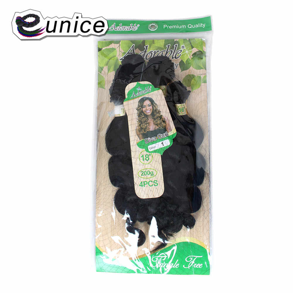 """Eunice 16 18 """"свободные глубокие волны Связки завивка искусственных волос предварительно цветные T27/30 4 шт./упак. Ombre 4 вида цветов доступны 200 г для женщин"""