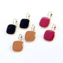 Geometry Earrings Ornaments Jewelry Sexy Wholesale Fashion Woman Square Glaze Madame