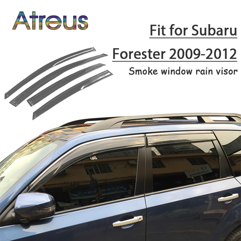 все цены на Atreus 1set ABS For 2018 2017 2016 2015-2009 Subaru Forester Accessories Car Vent Sun Deflectors Guard Smoke Window Rain Visor онлайн