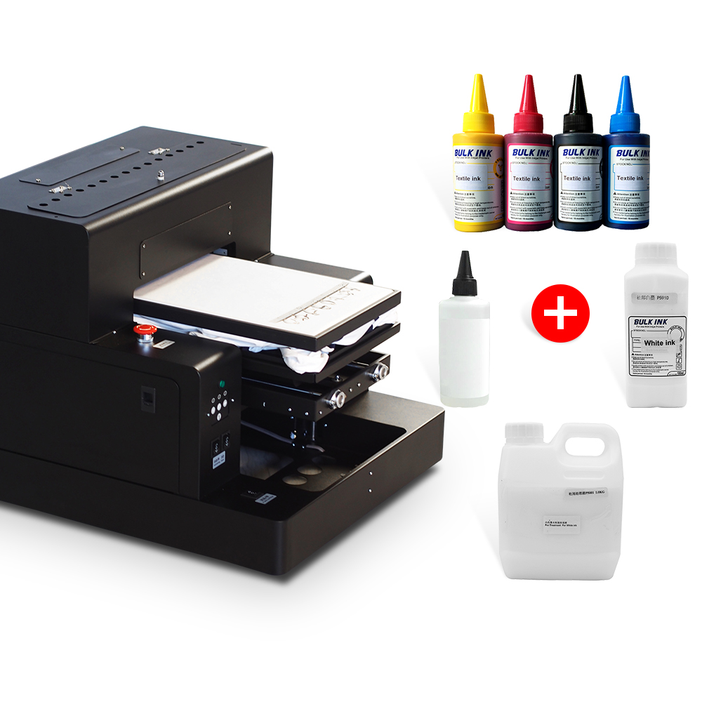 Automatyczna drukarka płaska A3 drukarka DTG maszyna do nadruków na koszulkach do ciemnej i lekkiej koszulki maszyna do druku na ubraniach