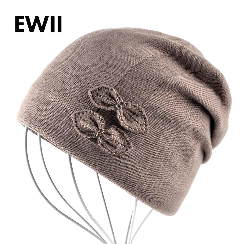 2017 Female diamond beanies cap women winter warm hat skullies girls beanie hats for women knitted caps chapeu masculino