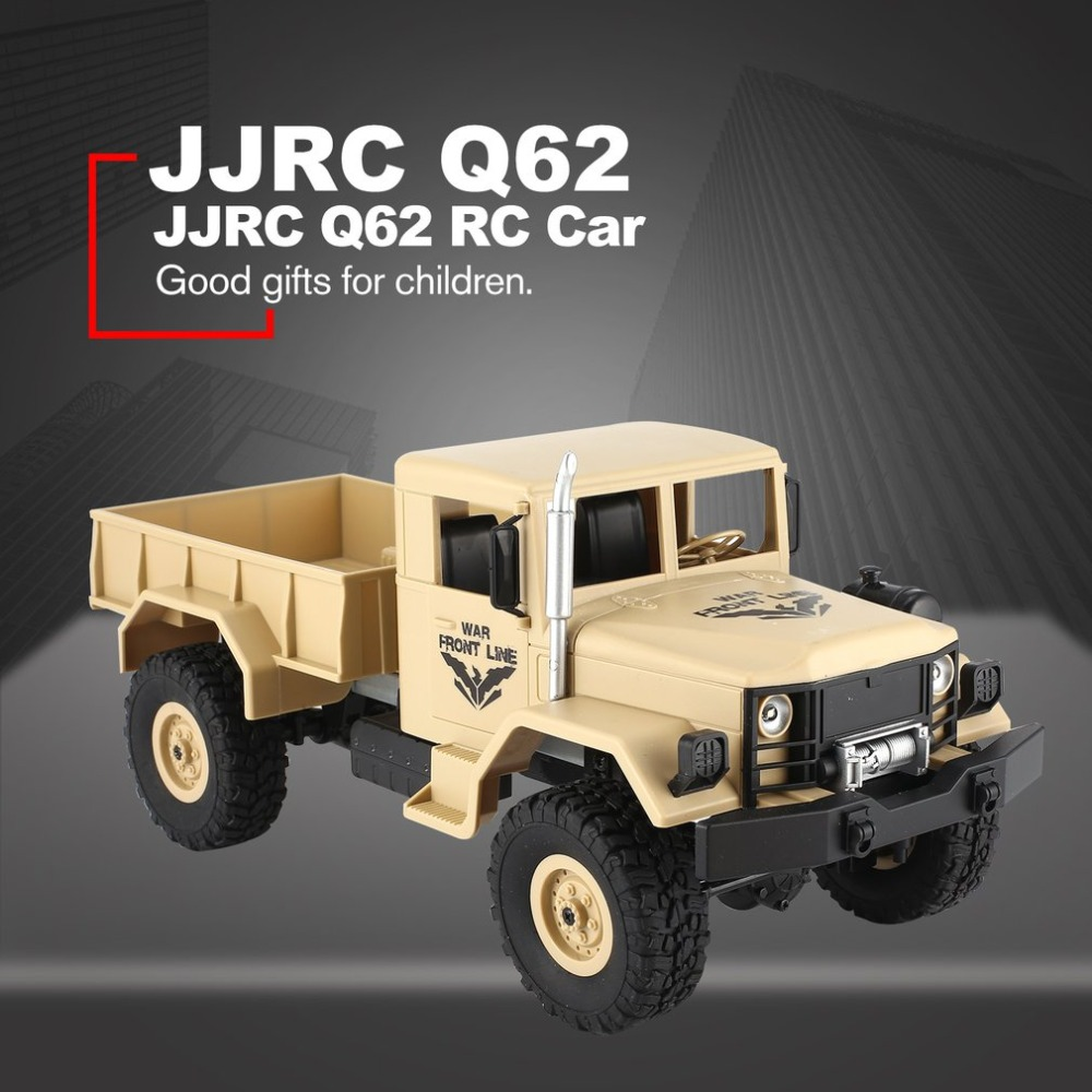 Jjrc Q62 1/16 2.4g 4wd Long Battery Life Off-road Military Trunk Crawler Remote Control Car Kids Toys Birthday Gifts Fine Workmanship Rc Cars