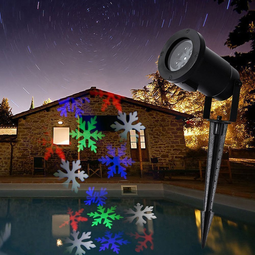 XMAS laser light projector christmas Snow Lamp Snowflake LED Stage Lighting effect For Party Landscape Garden Waterproof Outdoor
