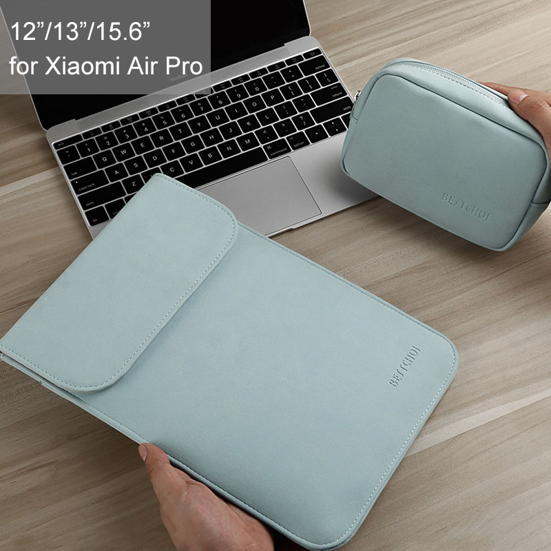 Hot BESTCHOI <font><b>Laptop</b></font> Sleeve Waterproof 12 <font><b>13.3</b></font> inch <font><b>Laptop</b></font> Case for Xiaomi mi notebook Air 12 13 Pro 15.6 <font><b>Laptop</b></font> <font><b>Bag</b></font> Solid Color image