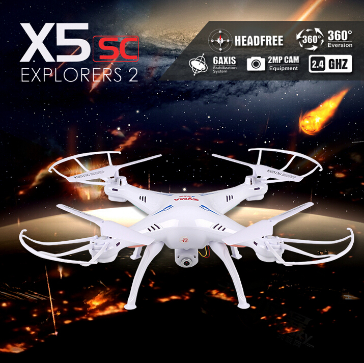 Syma X5SC 2.4G 4CH 6-Axis RC Quadcopter Helicopter RC Dron Professional Drones With Camera VS X6SW X5SW MJX X600 JJRC H20 2015 brand new jjrc h8c rc quadcopter with 2 0mp camera drone vs x5c x5sw jjrc h12c h16 mjx x101 x400 x600 x800