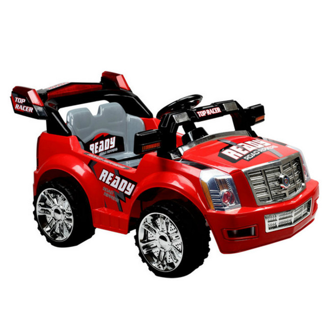 Toy Cars For Toddlers : Electric ride on racing car toy child plastic