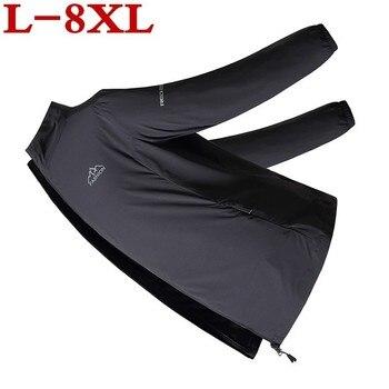 plus size 8XL 7XL 6XL 5XL Men's Brand Quick Dry Skin Coat Sunscreen Waterproof thin Army Outwear Ultra-Light Windbreake Jacket