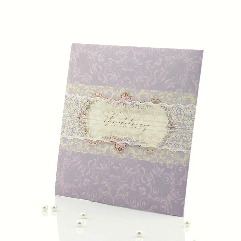Purple Ombre Letterpress Wedding Invitations By Cristina Pandol Via Oh So Beautiful Paper