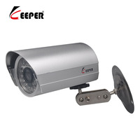 KEEPER Mini Silver Housing Outdoor Metal Security Camera 3 6 6mm Lens 30M Night Vision Analog