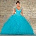 Vestidos quinceanera vestidos de baile sweetheart frisada lace up vestido de sweet 16 vestidos vestido de 15 años 15 anos 2017