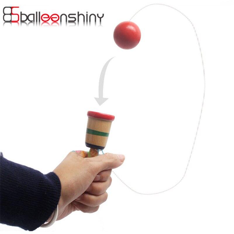 Деревянная игрушка координации игры меч жонглирование мячом навыки деревянный умений Развивающие игрушки для детей