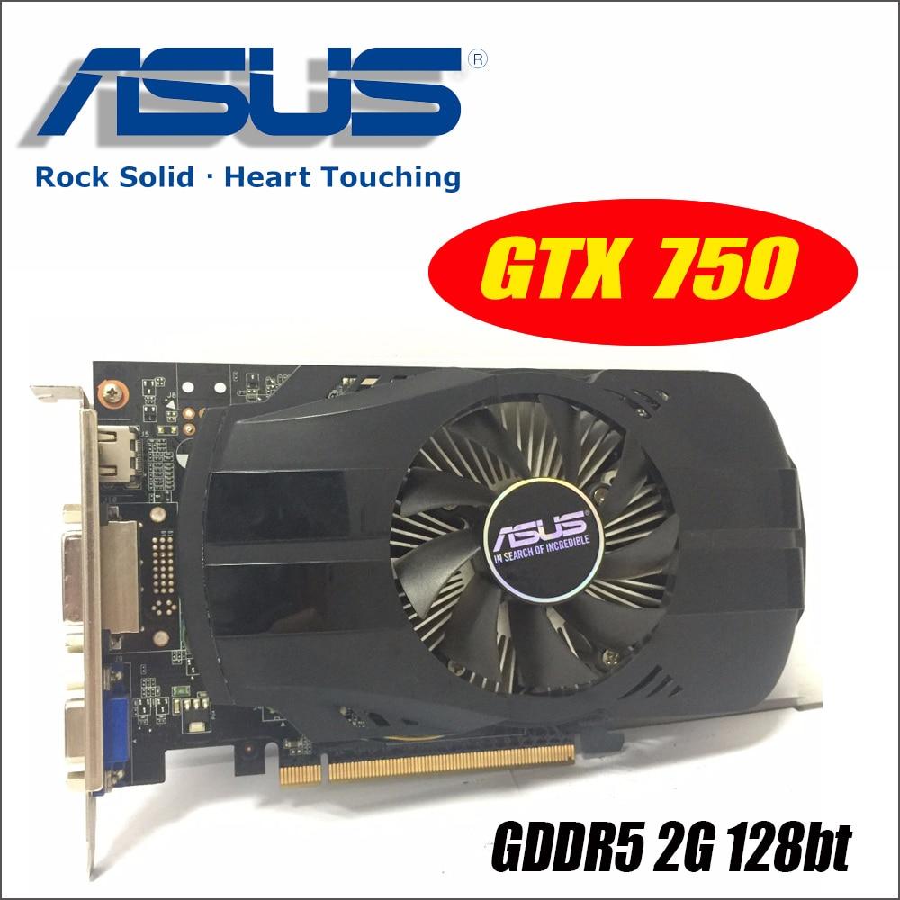 Asus GTX-750-FML-2GD5 GTX750 GTX 750 2g D5 DDR5 128 Peu PC De Bureau Cartes Graphiques PCI Express 3.0 ordinateur Graphique cartes