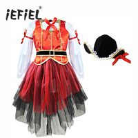 Girls Halloween Costumes For Kids Children S Cosplay Costume Outfits Tops Paired With Skirt And Hat