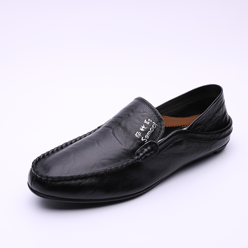 Fashion Mens Genuine Leather Shoes Men Flats Shoes Casual Loafers Fashion Moccasins Slip On Mens Driving Shoes Big Size 35-47 pl us size 38 47 handmade genuine leather mens shoes casual men loafers fashion breathable driving shoes slip on moccasins