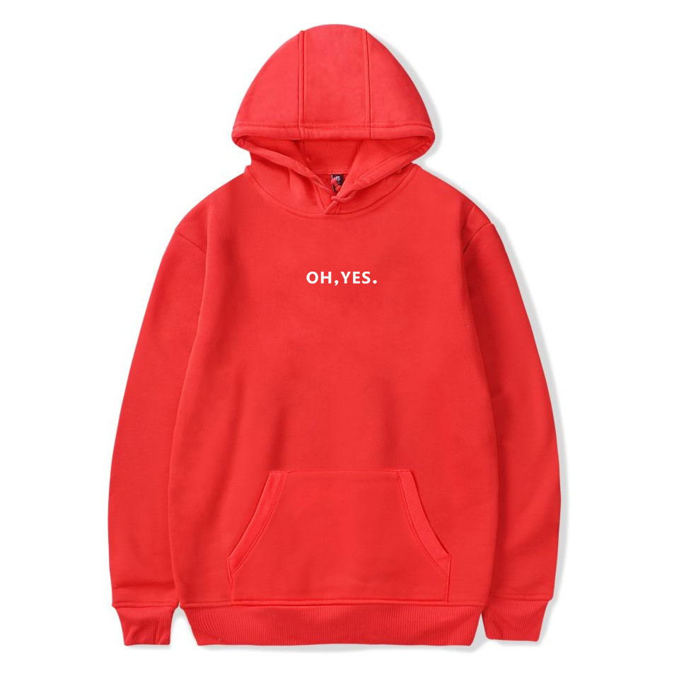 2018 Oh,YES  Or Oh,NO Printing Hoodies Sweatshirt  High Quality Autumn Hoodie  Fashion Casual Women Winter Clothes