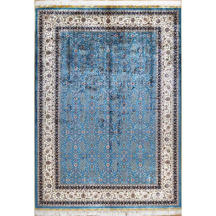 6.56 'x9. 84' sept tapis de soie de montagne tapis turcs faits à la main tapis de soie orientale pour tapis de salon