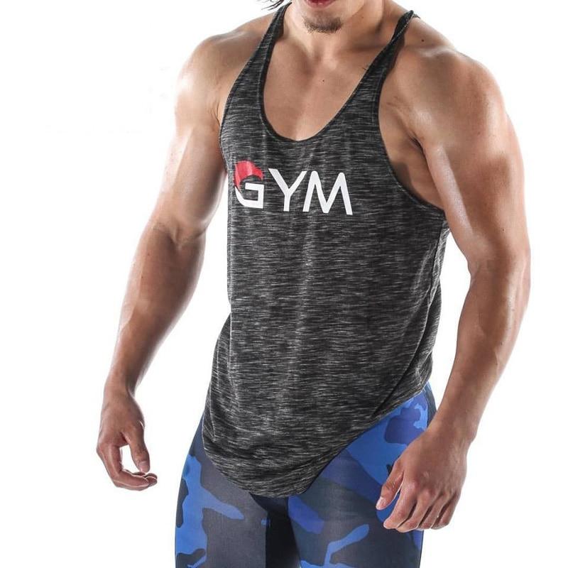 2019 Bodybuilding   Tank     Top   Men Sporting Wear Man Undershirt Patchwork Men Fitness Vest Sleeveless Vest Dropshipping