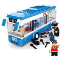 235 unids Monocapa City Bus Montado Bloques de Construcción de juguetes DIY juguetes Educativos para Niños Mejores Niños Regalos de Navidad