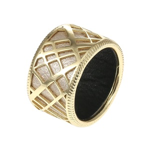 Image 3 - Cremo Liens Gild Finish Hollow Rings Set for Woman Band Reversible Insert Finger 12mm Wide Ring Jewelry Elegant Stylish Bijoux
