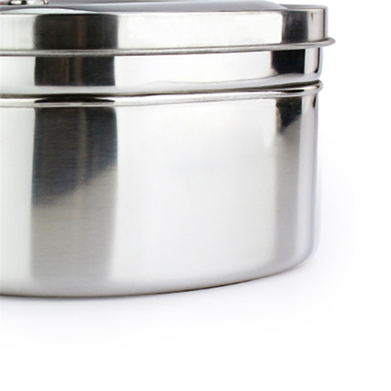 1Pc Portable High Capacity Silver Square Stainless Steel Double Layers Lunch Boxs Tableware Food Container Student Gifts in Lunch Boxes from Home Garden