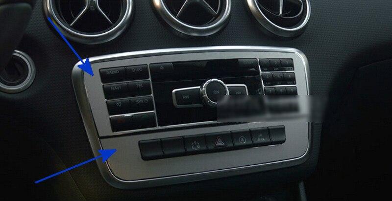 Pour Mercedes Benz GLA X156 2014 2015 Console centrale intérieur bouton couverture garniture 2 pièces