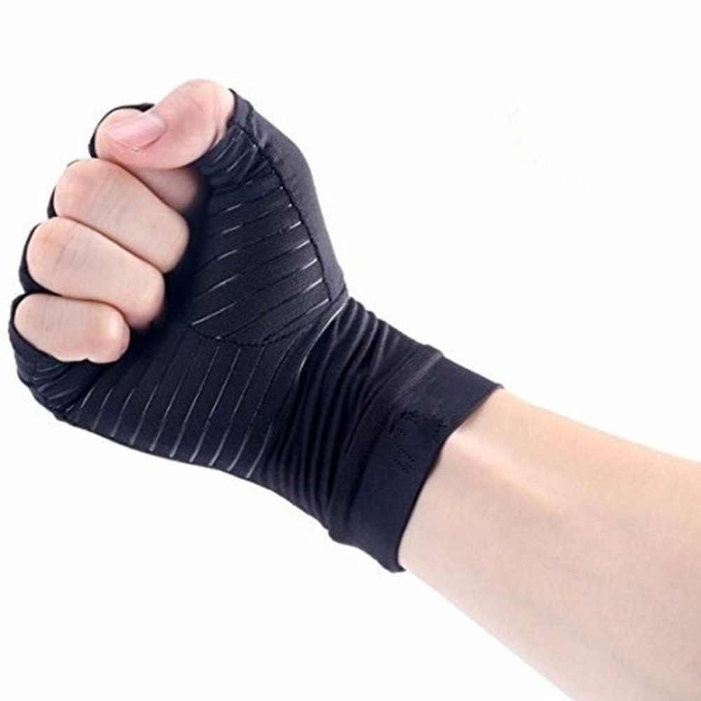 1 пара перчаток унисекс на половину пальца стимулирует кровообращение артрита боли в суставах облегчение подтяжки медицинские тренировочные перчатки