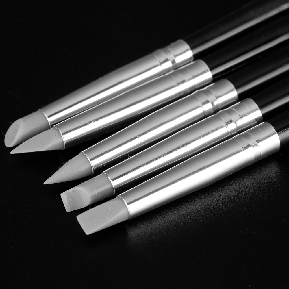 5Pcs Polymer Clay Tools Carving Craft Brush Pottery Tools Clay Sculpture Nail