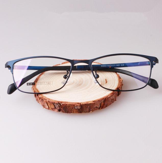 2017 Hombres Recetados Marco armação oculos de grau Ojo Marcos de los Vidrios de Los Hombres con Azul Gris Negro Gris Color
