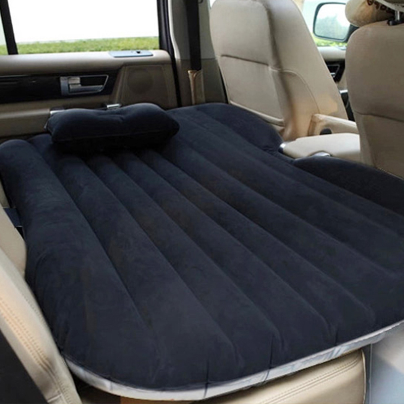 EAFC Car Air Inflatable Travel Mattress Bed Universal for Back Seat Multi functional Sofa Pillow Outdoor