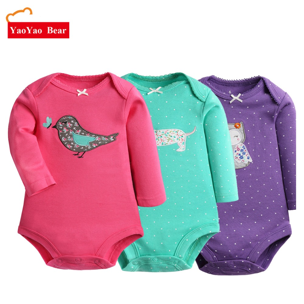 Baby clothes Baby Bodysuit 2pcs Long Sleeve Girl Boys Jumpsuit New Spring Newborn Baby Clothes Cotton Body Infant Products