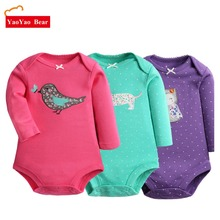 Baby clothes Bodysuit 2pcs Long Sleeve Girl Boys Jumpsuit New Spring Newborn Clothes Cotton Body Products