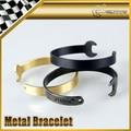 Car-styling For ROUILLE Titanium Steel Wrench Wristband Metal Bracelet Universal Fitment Inner Diameter 58mm
