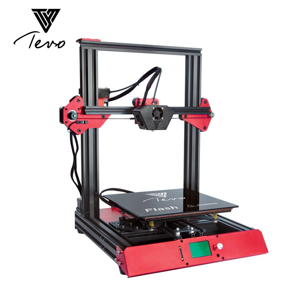 Новое поступление Tevo Flash 3d принтеры комплект 50% предварительно большой печати Размеры машина для мульти нити ABS PLA 1,75 мм