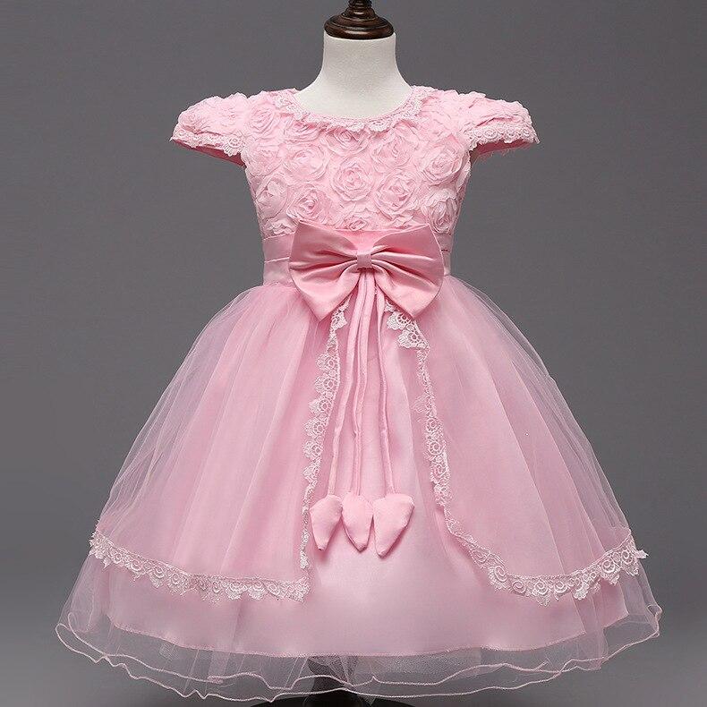 40% corea del verano niños vestidos para niñas vestido de novia Rosa ...