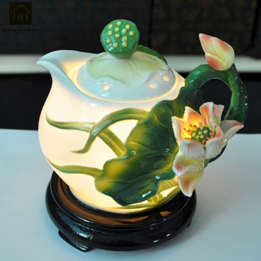Ceramic Electric Essential Oil Incense Burner Diffuser Aroma Ultrasonic Humidifier Mute Incensory Decorations Product QKN024