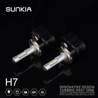 2pcs Set SUNKIA High Power 60w 8400LM T5 Car LED Headlight H7 Car Styling 8 32V