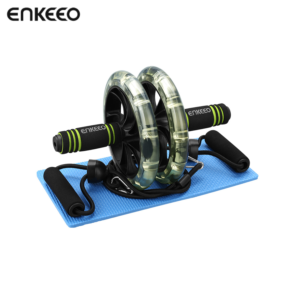 enkeeo ab roller with easy grip handles exercise dual. Black Bedroom Furniture Sets. Home Design Ideas