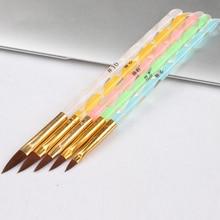 5 шт Профессиональный акриловый дизайн ногтей Кисть ручка съемная крышка Набор инструментов Набор акриловая ручка для украшения ногтей