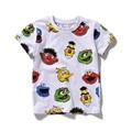 Nuevo 2016 Verano de Los Bebés Camisetas de Sesame Street de la Historieta de Los Niños Ropa de Algodón de Manga Corta camiseta Blanca Tee 12M-6Year Boy