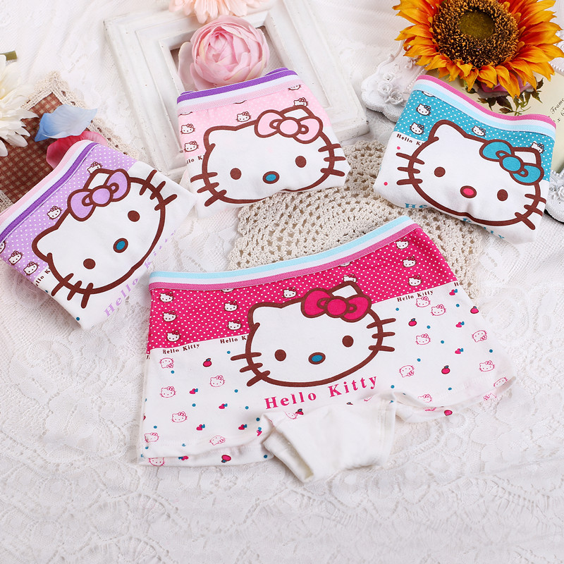 4 PCS/lot children Girl Briefs Lace Baby girls Panties unders