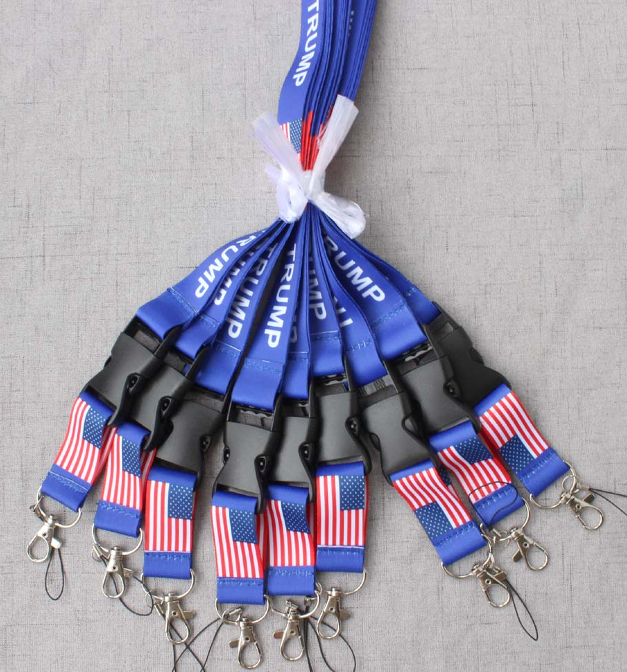 Flag of the United States TRUMP phone Lanyard Key Chain ID Badge cell phone holder Neck