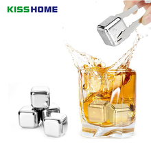 304 Stainless Steel Whiskey Cooler Wine Cooling Stones Ice Cubes Soapstone Glacier Cooler Chillers Drink Physical Cooling Tools цена и фото