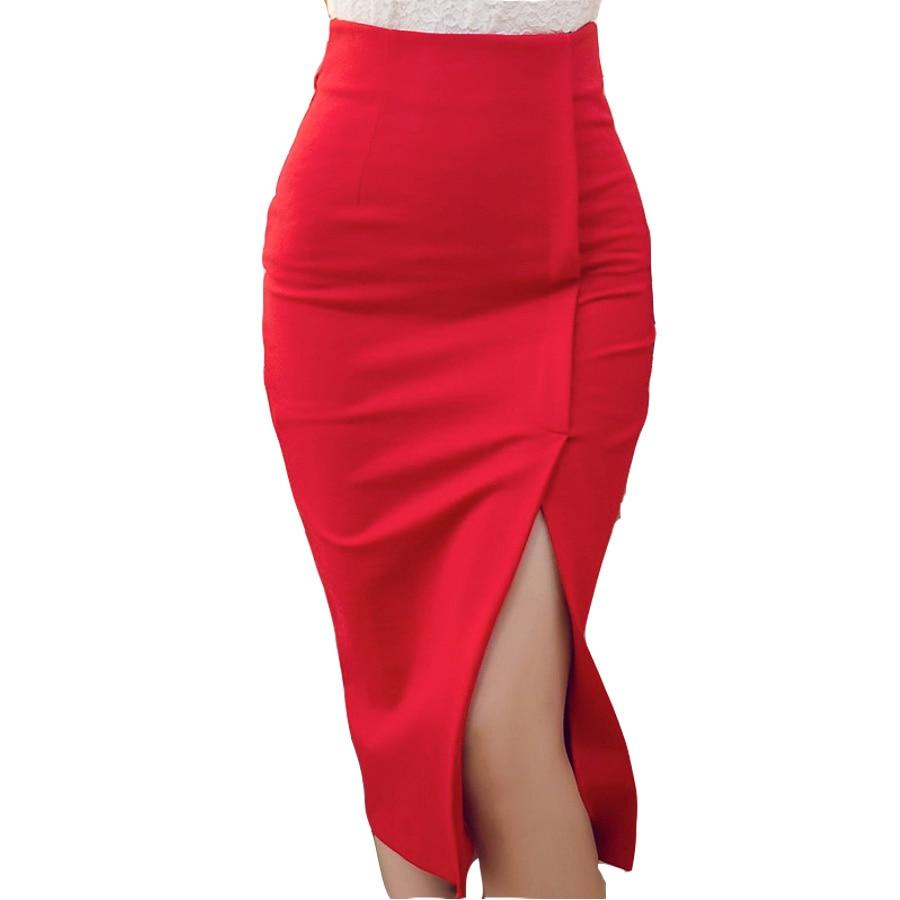 New 2016 women pencil skirt high waist split Women Skirt Long Skirt Package Hip Split Skirts