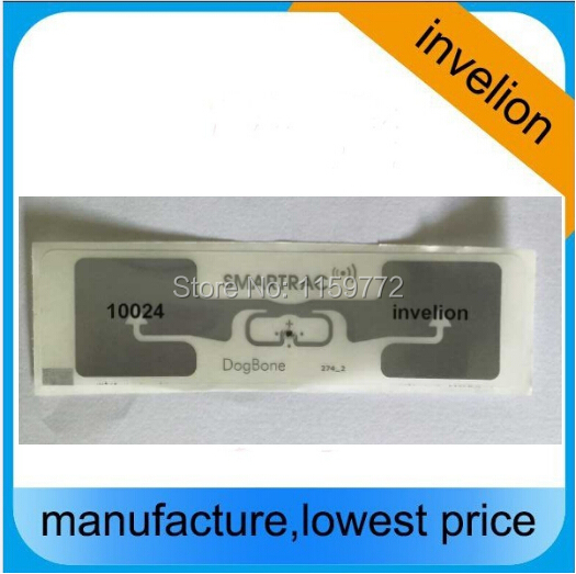 Invelion 860-960MHz uhf  DogBone rfid label for sports timing race