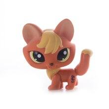 Nuevo juguete raro de la tienda de mascotas Lps envío gratis zorro gran oreja marrón corto gran colección Dane figura de acción de juguete para niños regalo