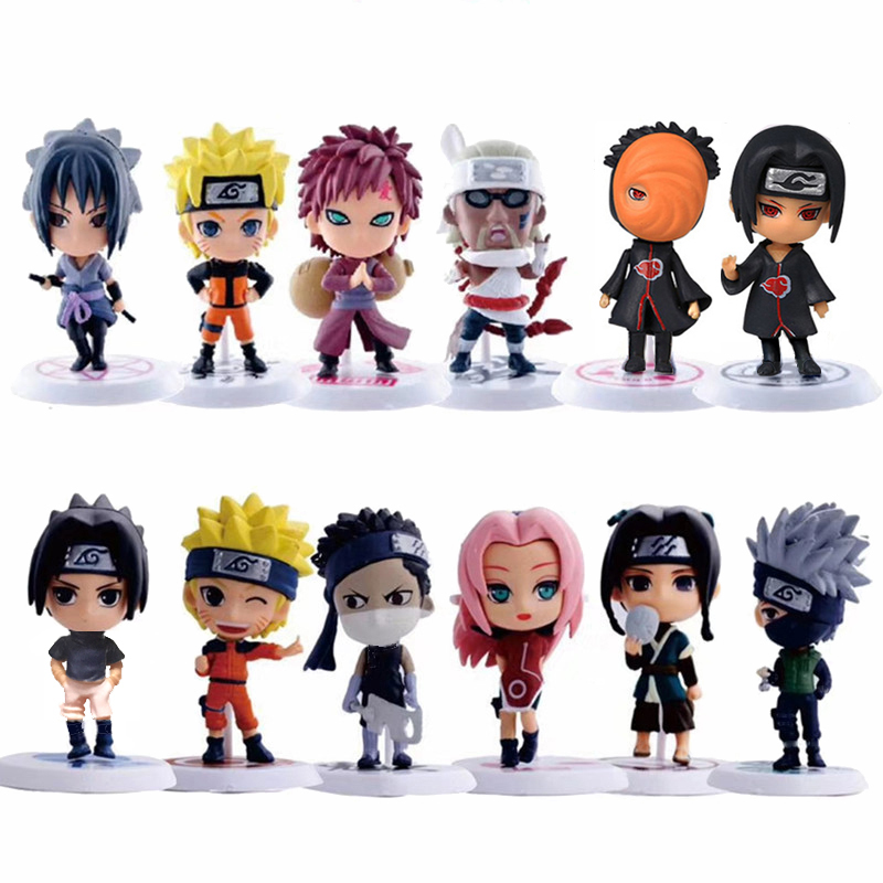 1pcs/lot Anime Naruto Action Figure Toys 12 Styles Zabuza Haku Kakashi Sasuke Naruto Sakura PVC Model Collection Kids Toys
